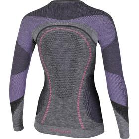 UYN Ambityon Melange UW LS Shirt Dame black melange/purple/raspberry